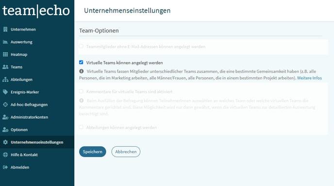 Virtuelle Teams aktivieren